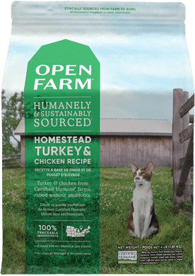 8lb Open Farm Homestead Turkey & Chicken for Cats