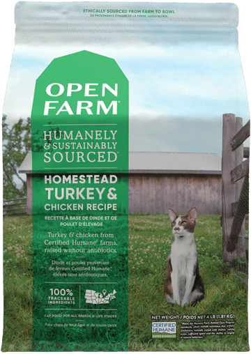 Open Farm Turkey & Chicken for Cats 4lb