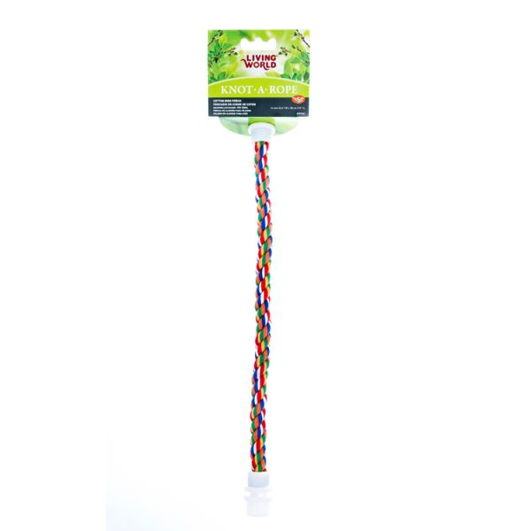 living world multi-coloured cotton perch - 15