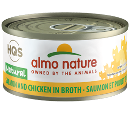 Almo Nature Salmon & Chicken In Broth for Cats 2.5oz Can