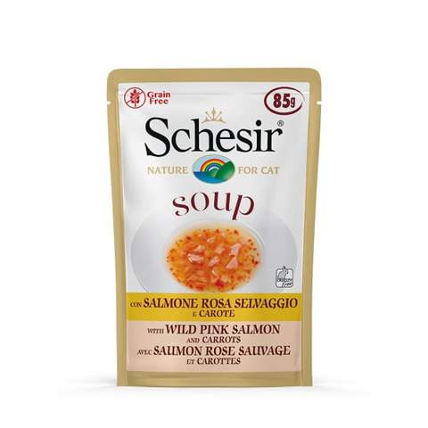 Schesir Soup Salmon & Carrots for Cats 85g