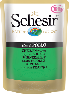 100g Schesir Chicken Fillets Pouch - Feline