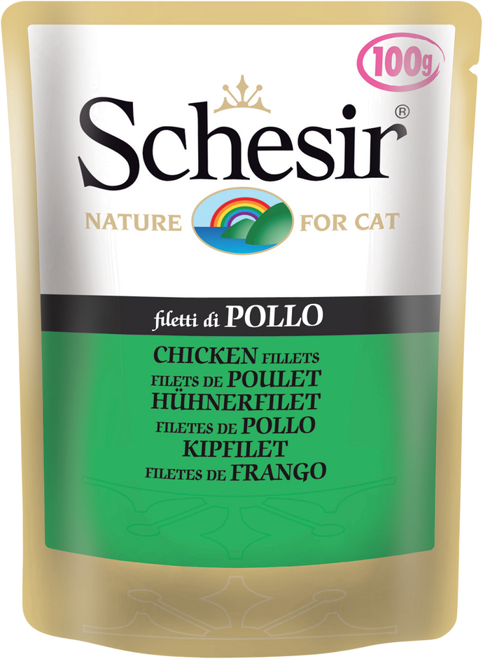 Schesir Chicken Fillets Pouch for Cats 100g