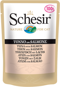 Schesir Tuna with Salmon Pouch for Cats 100g