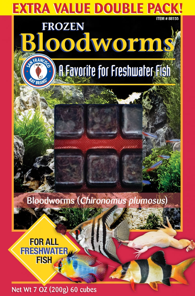 SFBay Bloodworms Cubes 7 oz