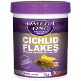 Omega One Cichlid Flakes 2.2 oz
