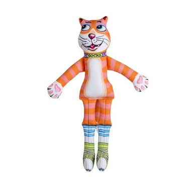 FUZZU Sneaky Cat! Socks Dog Toy - Medium
