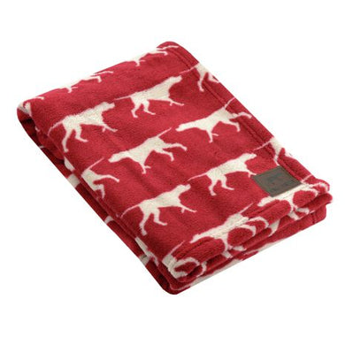 Tall Tails Fleece Blanket Icon Print Red