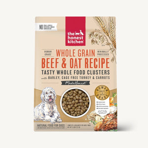 The Honest Kitchen Whole Food Clusters w/Grain Beef/Turkey Recipe for Dogs 20lb