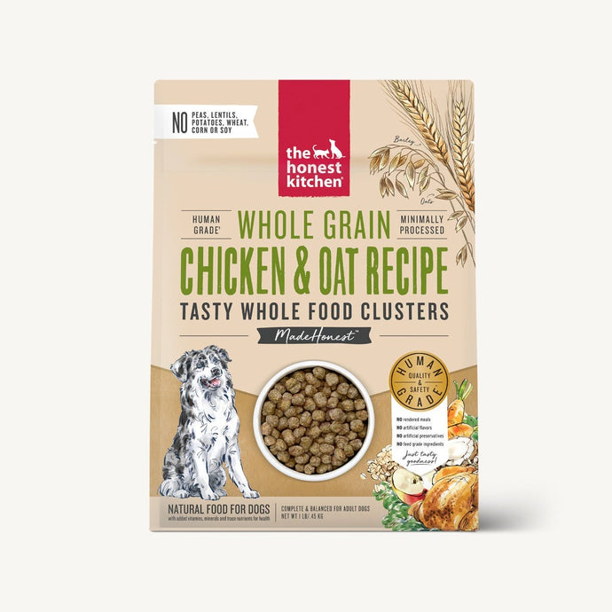The Honest Kitchen Whole Food Clusters w/Grain Chicken Recipe for Dogs 20lb
