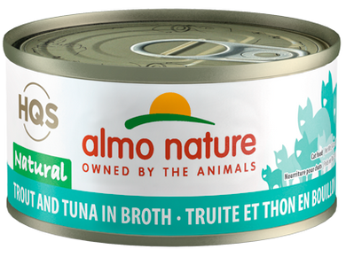 Almo Nature Trout & Tuna In Broth for Cats 2.5oz Can