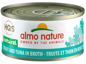 2.5oz Can Almo Nature Trout & Tuna In Broth
