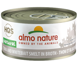 Almo Nature Tuna & White Bait in Broth for Cats 2.5oz Can
