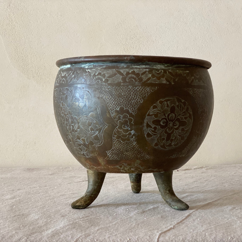 Vintage Footed Planter