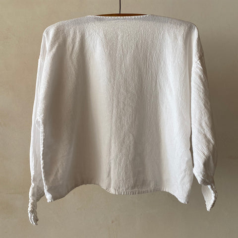 Vintage Cropped Cotton Top