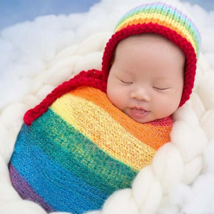 Rainbow Newborn Knit Hat