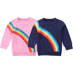Mommy and Me Matching Rainbow Sweaters