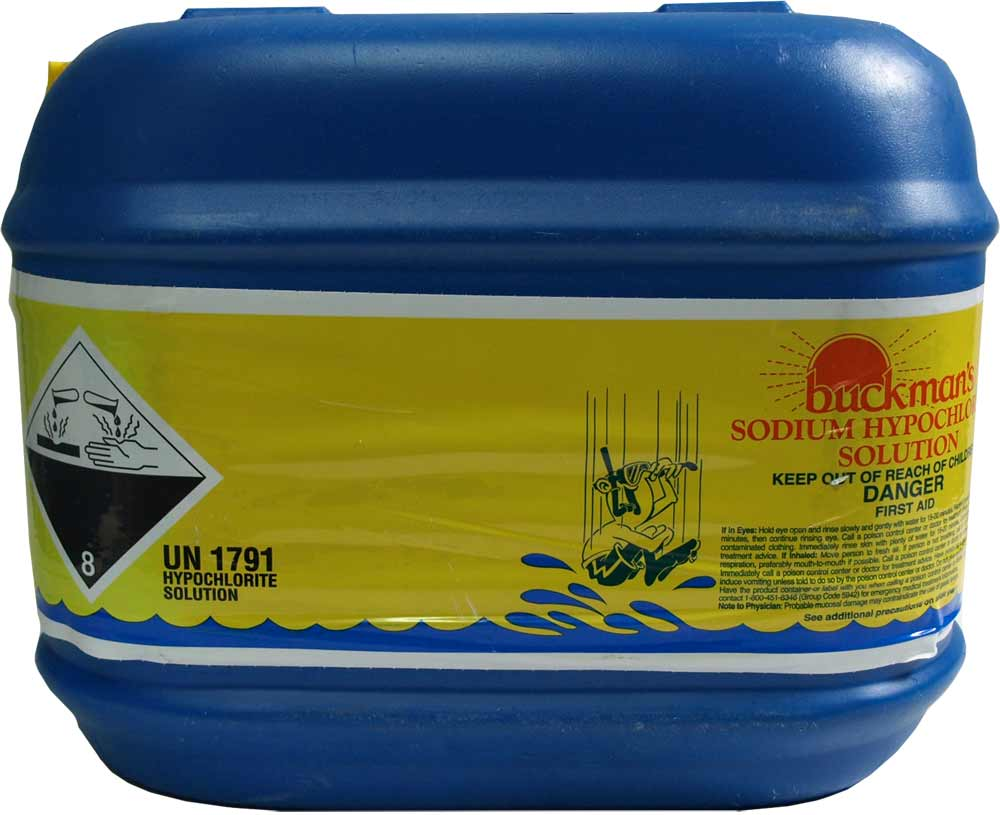 Liquid Chlorine 2.5 gallons - ($5 returned when blue carboy container returned)