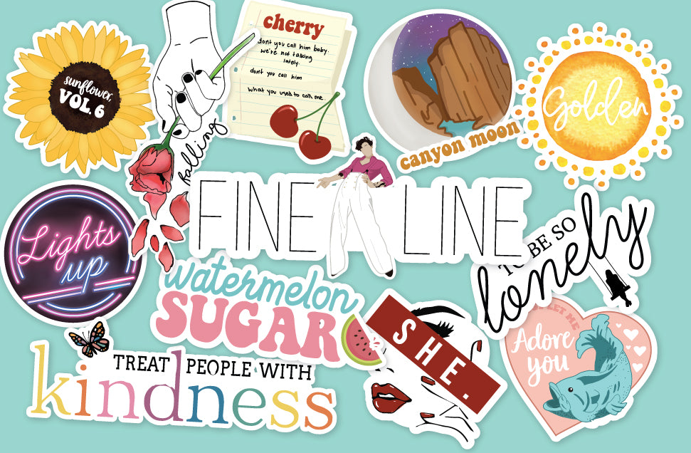 Harry Styles inspired Sticker Pack Treat People With Kindness