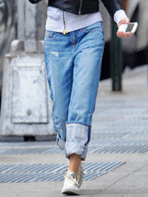 Load image into Gallery viewer, Women Solid Pockets Street Jeans