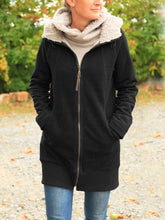 Load image into Gallery viewer, Women Solid Zipper Cotton Cotton Winter Coats