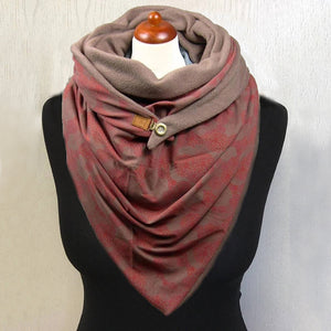 Winter Scarves For Women Flower Print Triangle Scarf Fashion Scarves