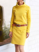 Load image into Gallery viewer, Women Solid Long sleeve Turtle neck Simple Winter Dress