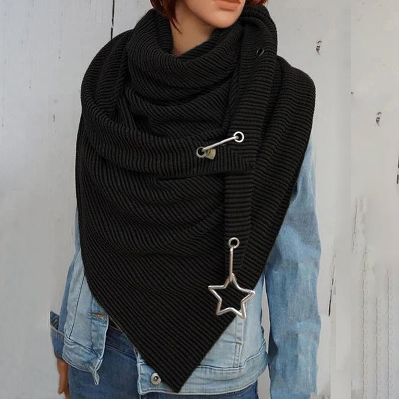 Stripes Triangle Scarf Cotton Shawls And Wraps  Winter Scarves For Women