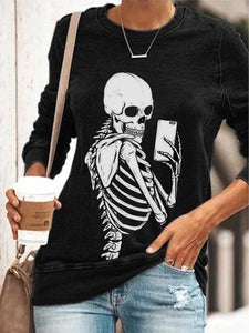 Women Printed Paneled Polyester Crew neck Casual T-shirt