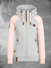 Load image into Gallery viewer, Solid  Zip Up Hoodie Long Sleeve Cardigan Sweatshirts For Women
