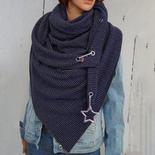 Load image into Gallery viewer, Stripes Triangle Scarf Cotton Shawls And Wraps  Winter Scarves For Women