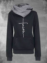 Load image into Gallery viewer, Women Shawl Collar Embroidered Hooded Sweatshirts