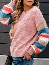 Load image into Gallery viewer, Turtle Neck  Stripes Knitted Women Sweaters