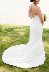 Demetrios '1443' size 4 used wedding dress back view on bride