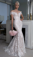 Romona Keveza 'Legends' size 8 new wedding dress front view on model
