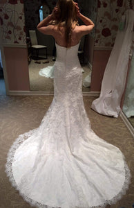 Maggie Sottero 'Chesney' size 2 used wedding dress back view on bride