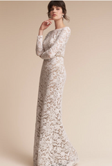 BHLDN 'Medallion' size 4 used wedding dress front view on model