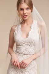 BHLDN 'Cheyenne' size 0 new wedding dress front view on bride