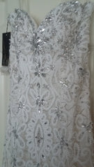 Stephen Yearick '13859' size 6 new wedding dress close up on hanger