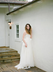 Vera Wang Silk Strapless Wedding Dress - Vera Wang - Nearly Newlywed Bridal Boutique - 1