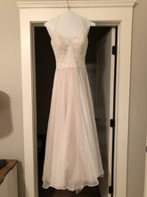 Load image into Gallery viewer, Essence of Australia 'Lace Organza And Tulle' size 10 used wedding dress front view on hanger