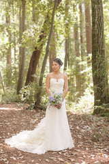 Vera Wang 'Harper' size 2 used wedding dress front view on bride