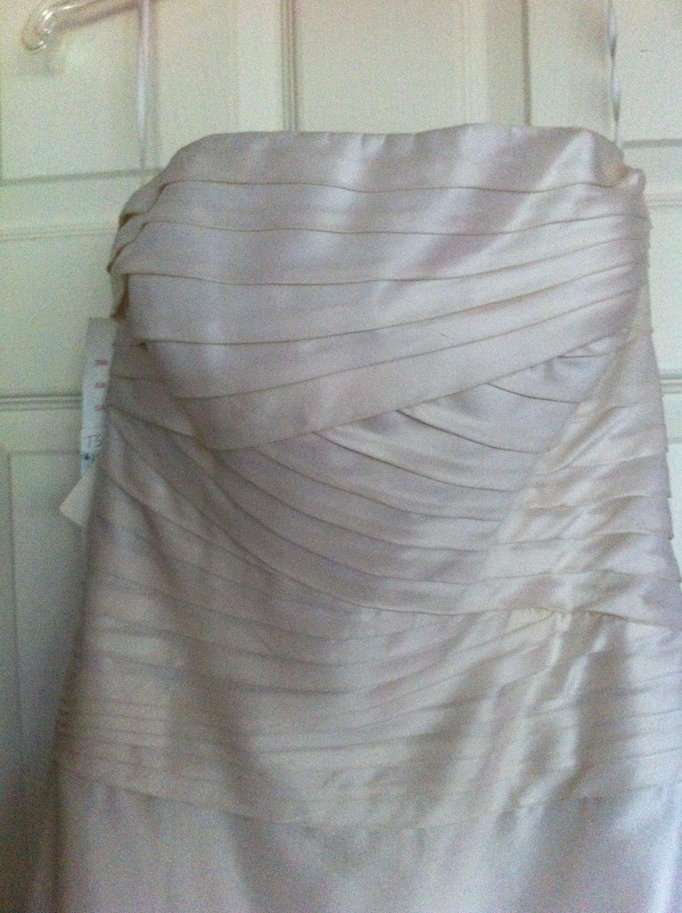 Watters & Watters Silk Pleated Ivory Wedding Dress - Watters - Nearly Newlywed Bridal Boutique - 2