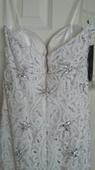 Stephen Yearick '13859' size 6 new wedding dress back view on hanger