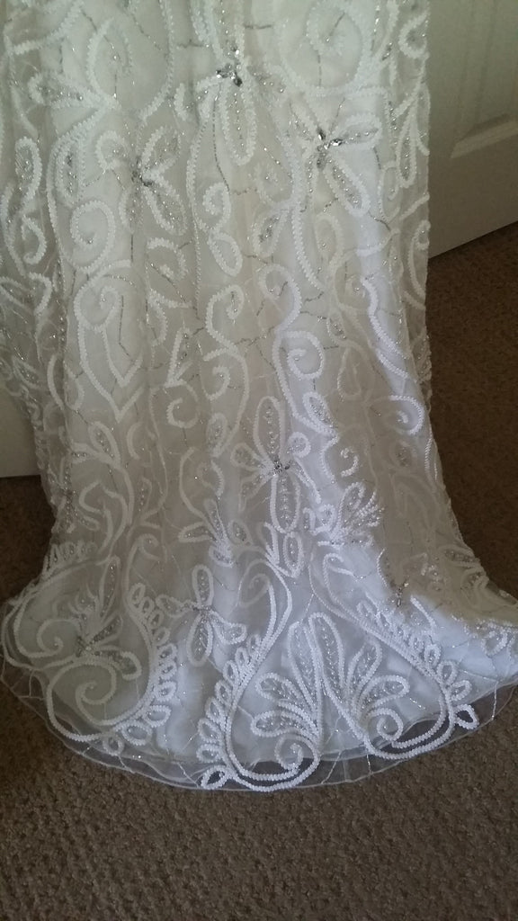 Stephen Yearick '13859' size 6 new wedding dress view of train