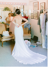 Load image into Gallery viewer, Made With Love 'Sienna' size 2 used wedding dress back view on bride
