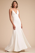 Load image into Gallery viewer, Jenny Yoo 'Estelle' size 00 used wedding dress front view on model