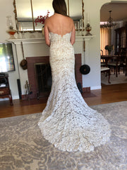 Anna Maier 'Lyon' size 6 new wedding dress back view on bride
