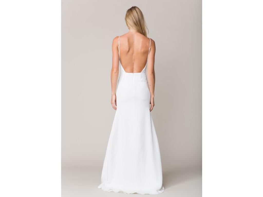 Sarah Seven 'Marseille' size 8 new wedding dress back view on model