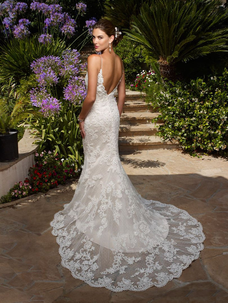 Casablanca 'Exotic Escape' size 14 new wedding dress back view on model